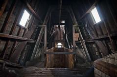 023 (Nicolaiona) Tags: windows abandoned stairs industrial textiles pillars mills derelict urbanexploring keighley daltonmillsbradford