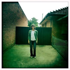 Barb, Bacchus Marsh (supacrush) Tags: people house apple fence square concrete suburban bricks driveway squareformat photowalk normal msm daytrip iphone bacchusmarsh melbournesilvermine instagramapp uploaded:by=instagram