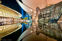 Lost in Hyper Reflections (DanielKHC) Tags: light art glass museum architecture night marina reflections bay nikon singapore science symmetry d300 danielcheong danielkhc tokina1116mmf28
