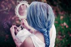 silent mermaids climbed the trees III (Ailera Stone) Tags: blue stone vintage hair mirror retro tasha braid fishtail aist ailera tirit