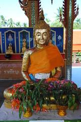 Gold buddah (Lmorro) Tags: colour texture thailand temple gold pattern shape buddah