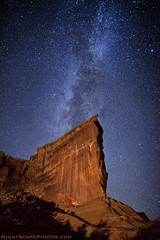 "Stars over Hole in the Wall Arch (IronRodArt - Royce Bair (""Star Shooter"")) Tags: park light sky lightpainting nature wall night dark painting way stars evening bravo shiny long exposure heaven glow arch shine nightscape hole time infinity space deep arches twinkle astro sparkle galaxy national astrophotography planet astronomy universe exploration milky cosmic starry cosmos constellation distant milkyway starlight twilightdusk starrynightsky holeinthewallarch"