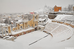 Plovdiv, today ! (.:: Maya ::.) Tags: city winter snow bulgaria antic plovdiv teathre          mayaeye mayakarkalicheva