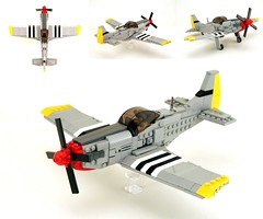 P-51 Mustang. (psiaki) Tags: airplane fighter lego wwii north american mustang p51 moc