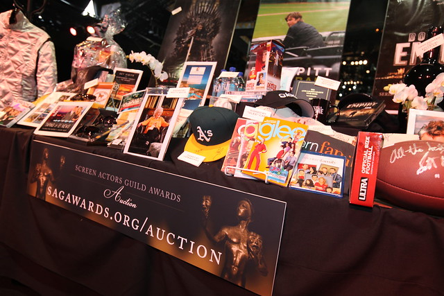 The SAG Awards Auction Table! The auction goes live Thursday, January 26, 2012 - February 2, 2012. Check out our available items! http://www.sagawards.org/auction