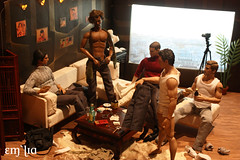 Strip Poker (em`lia) Tags: gay hot actionfigure johnnydepp fashiondoll diorama homme playdate jamesfranco strippoker takeshikaneshiro wentworthmiller hottoys siama integritytoys emlia jakegyllehard
