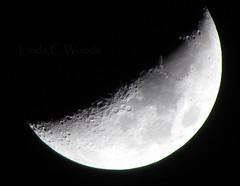 Waxing Crescent 39% (Lin_Woods) Tags: moon night crescent waxingcrescent39