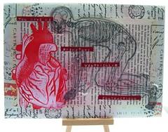 mail art 365-015 (Miss Thundercat) Tags: colorful heart handmade postcard valentine anatomy mailart sent snailmail swapbot