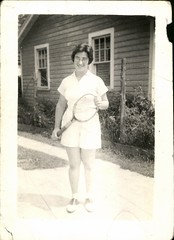 Tennis Anyone? (mizaliza) Tags: photo tennis photovintage photoantique tenniswhites delphiniumsbluedelphiniumsbluefound rackettennisshortsetsyetsy