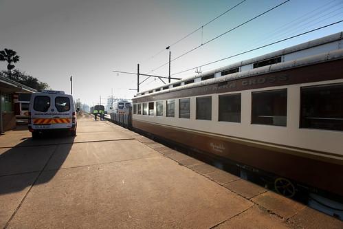 Shongololo Express - Train by day on platform