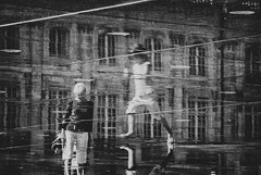 ~ the leap ~ (Janey Kay) Tags: distortion reflection water bordeaux streetphotography september reflet abstraction septembre 2009 nikkor18200mmvr nikond80 mirroirdeau janeykay niksilverefex ithinkineedtoreturntothislocation ilmesemblequilfautquejeretournecetteville