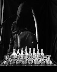 Black to Play and Lose. (johnnymack73) Tags: dark death ghost chess fantasy horror phantom spectre grimreaper scythe