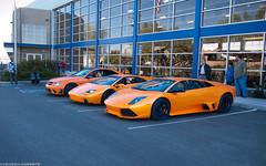 Orange Trio (chrisboulas) Tags: california county ca orange mercedes benz tokina socal diablo lamborghini matte 1224 murcielago l4p luxury4play