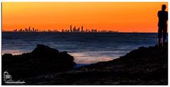Sunset over Surfers (Brett Huch Photography) Tags: ocean sunset sea sky seascape beach water night surf waves seascapes australia qld queensland aussie coolangatta snapperrocks wavesbreaking