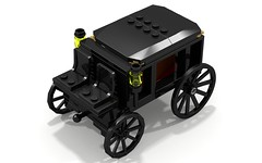 Hearse16 (Legozilla) Tags: wagon lego instructions hearse ldd ldd2povray