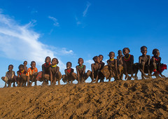 Dassanech tribe children dancing and jumping, Omo valley, Omorate, Ethiopia (Eric Lafforgue) Tags: africa travel girls people haircut color boys smile smiling horizontal fun outdoors happy photography jumping sand dancing african joy happiness tribal line omovalley ethiopia cheerful tribe ethnic hairstyle groupofpeople developingcountry ethnicity hornofafrica ethiopian eastafrica toothysmile abyssinia fulllenght traveldestination omorate africanethnicity indigenousculture geleb ethnicgroup dassanech southethiopia dassanetch daasanach dasaanech daasanech dassanach omoratte ethio161954
