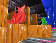 Shiny stables (Shiny moniree in sl 5) Tags: life red cute shiny sweet girly wildlife smooth obsession rubber cutie sl glossy pony kawaii second latex gloss horn unicorn slippery cgi rubberhair rubbery rubberland rubberworld poilsh latexskin rubberskin latexhair latexland latexy latexworld obsessionforlatex latexobsession poilshed