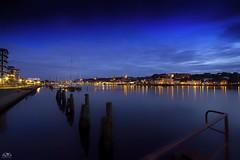 Flensbuger Hafen (stein.anthony) Tags: longexposure blue clouds cityscape 1001nights hafen nachtaufnahme flensburg langzeitbelichtung blauestunde frde