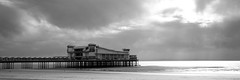 Weston Pier (Ged Slaughter Photography) Tags: light sea sky bw cloud seascape landscape coast pier seaside somerset westonsupermare weston gedslaughter