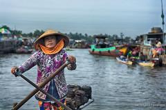 Mekong Delta (Feca Luca) Tags: street portrait people woman river donna nikon asia market outdoor fiume vietnam mercato ritratto mekong reportage