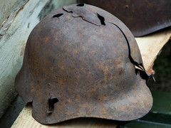 / Helmet by World War II (Abs0lute2010) Tags: old hat soldier army rust war steel military wwii helmet hard rusty crack warrior artefact casque