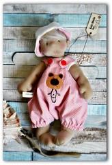 A Big Funny Bear to Cuddle (Les PouPZ) Tags: bear baby sailor artdoll waldorfdoll clothdoll petitpois cuddledoll naturalfiberdoll lespoupz