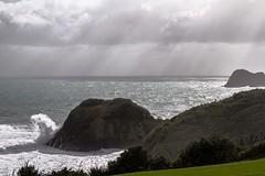 Grey Sunday (jimjiraffe) Tags: ocean wild canon stormy nz rough tasman westcoast taranaki newplymouth ef24105l paritutu ngamotu greysunday seagullrock jimjiraffe