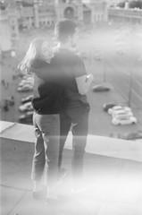 (breussasha) Tags: portrait blackandwhite white black film monochrome analog 35mm couple moscow ishootfilm filmcamera om 35 ilford olimpus analogcamera olimpusom2