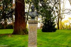 Buste de Napolon III (1808-1873) (Crilion43) Tags: france nature statue canon divers ciel arbres monuments nuages allier paysage parc vichy buste chteaux rflex socle