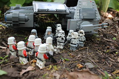 """""""Vader himself gave me command authority upon our arrival here. The mission has changed. You will support us in what ever way I need you."""" (kevinmboots77) Tags: starwars lego stormtroopers shocktroopers tieads legography"""