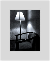 Motel room 225 (Bob R.L. Evans) Tags: lamp dark chair lonely minimalism iphotography