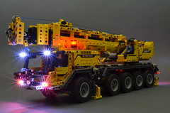 Technic Vehicles with Lights and Beacon (brickstuff) Tags: volvo lego technic loader mkii