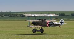 Fokker DR1 403/17 (Jonathan Saull) Tags: aviation aeroplane airshow duxford ww1 warbird airdisplay iwmduxford fokkertriplane greatwardisplayteam historicaircraft ww1fighter olympusomdem1 olympusmzuiko40150ed28pro