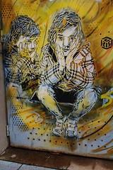 C215_4555 passage Irne et Frdric Joliot Curie Vitry sur Seine (meuh1246) Tags: streetart enfant vitry vitrysurseine c215 passageirneetfrdricjoliotcurie