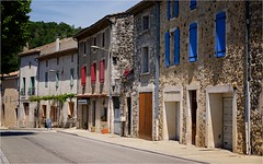 Caern to Bauduen May 2016 DSCF9324 (janet.oxenham10) Tags: street france colour architecture village shutters provence