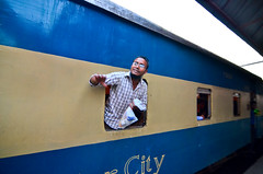 The last call-II (A. adnan) Tags: man window station train interesting nikon railway goodbye bangladesh chittagong bangladeshiphotographer d7000 peopleofbangladesh aadnan613 gettyimagesbangladeshq3