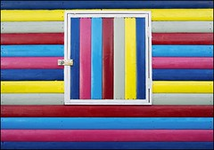 Multi-Coloured beach Hut (adrians_art) Tags: abstract lines vertical horizontal kent stripes patterns beachhut colourful whitstable woodenplanks