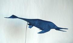 Ichthyosaur (Cymbospondylus) (folding~well) Tags: paper origami dinosaur folding ichthyosaur cymbospondylus