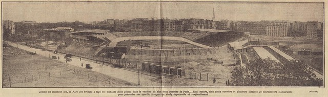 """lAuto"" April 23th, 1932 - inauguration of the ""new"" Parc des Princes - zoom"