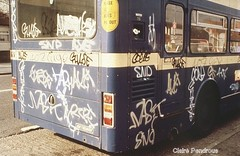 All time low (Lady Wulfrun) Tags: graffiti birmingham 1988 vandalism 1980s westmidlands metrobus wmt wmpte
