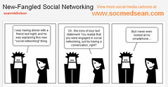 Social Media Cartoon Comic - New-Fangled Social Networking