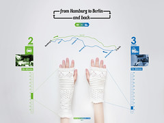 from Hamburg to Berlin and back (ulaniulani) Tags: travel berlin car train time hamburg giveaway visualization challenge informationdesign infographics wristwarmer infodesign myway verlosung crochetdesign carvstrain timemeasure