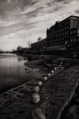 a walk along the canal (series) (stephane (montreal)) Tags: white black water canal noir cityscape montreal lachine et blanc stephane paquet 2011 refflection