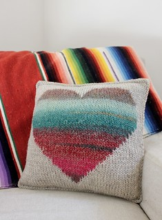 Ravelry: Watercolor Heart Pillow pattern by Jody Rice