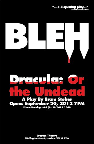 Dracula or the Undead Play Poster