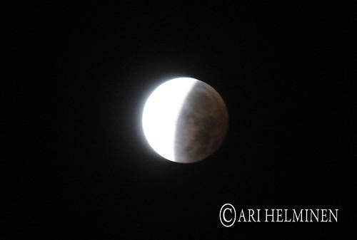 月食 Moon eclipse in Tokyo,Japan