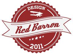 Red Barron Final (Barron Webster) Tags: red logo typography design graphicdesign graphic banner crest badge type carton homestead lettering barron logodesign deftonestylus