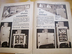 The Silent Hostess magazine: Always Summertime in your Kitchen! (litlnemo) Tags: kitchen magazine 1930s sink ad stove refrigerator ge promotional housewife g55 generalelectric g40 g100 monitortop silenthostess g175