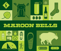 Maroon Bells front cover (nasmo3) Tags: illustration colorado icons backpacking maroonbells