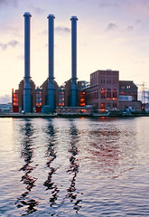 India Point Power Plant Towers On The Water (chloe & ivan) Tags: ri cool providence uncool cool2 indiapoint cool5 cool3 cool6 cool4 cool7 uncool2 uncool3 uncool4 iceboxcool